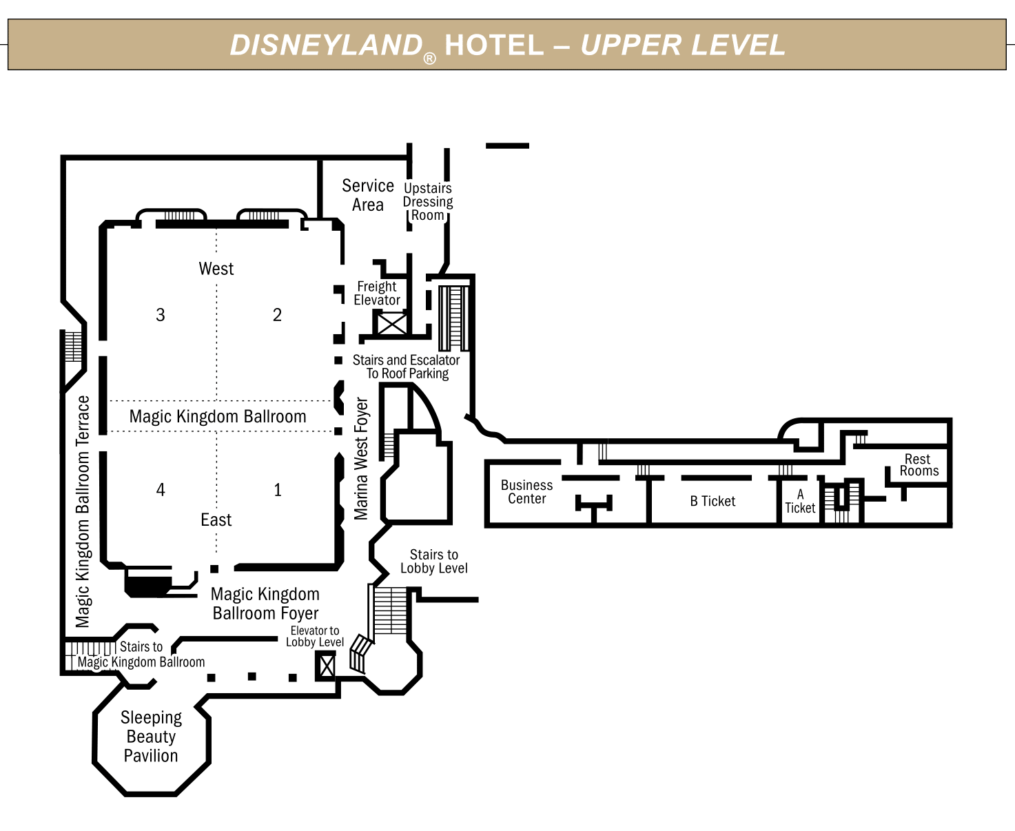 Disneyland Hotel Upper Level